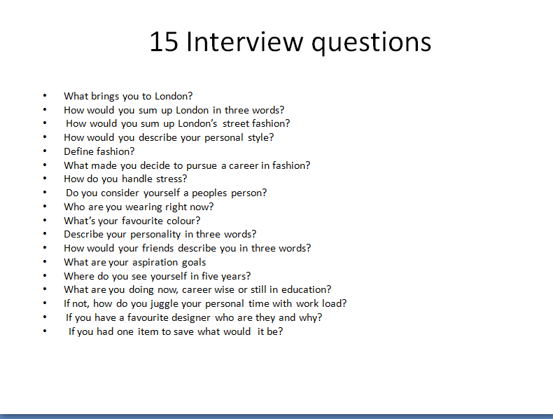 Good interview questions to ask for an essay