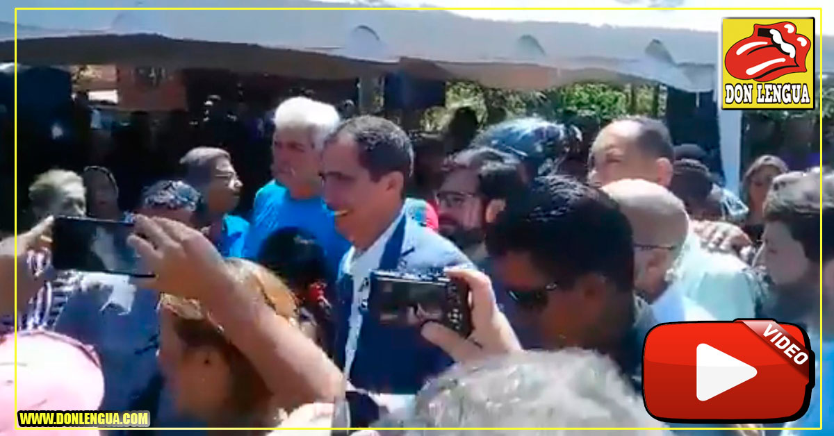 Juan Guaidó recibido como un rey en el Estado Vargas