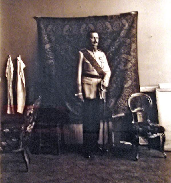 Marshall Mannerheim against Russian carpet