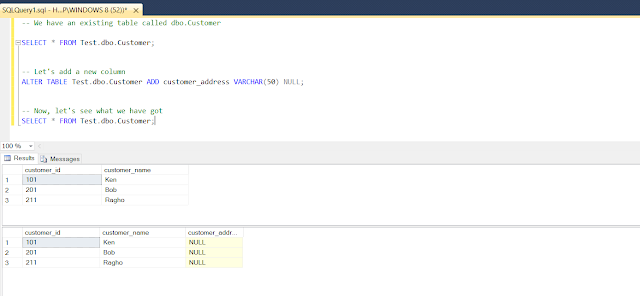 How to add columns into existing table in SQL Server with example