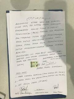 Surat Pernyataaan KH. Ahmad Fahmi Zamzam tentang Rambut Palsu Rasulullah