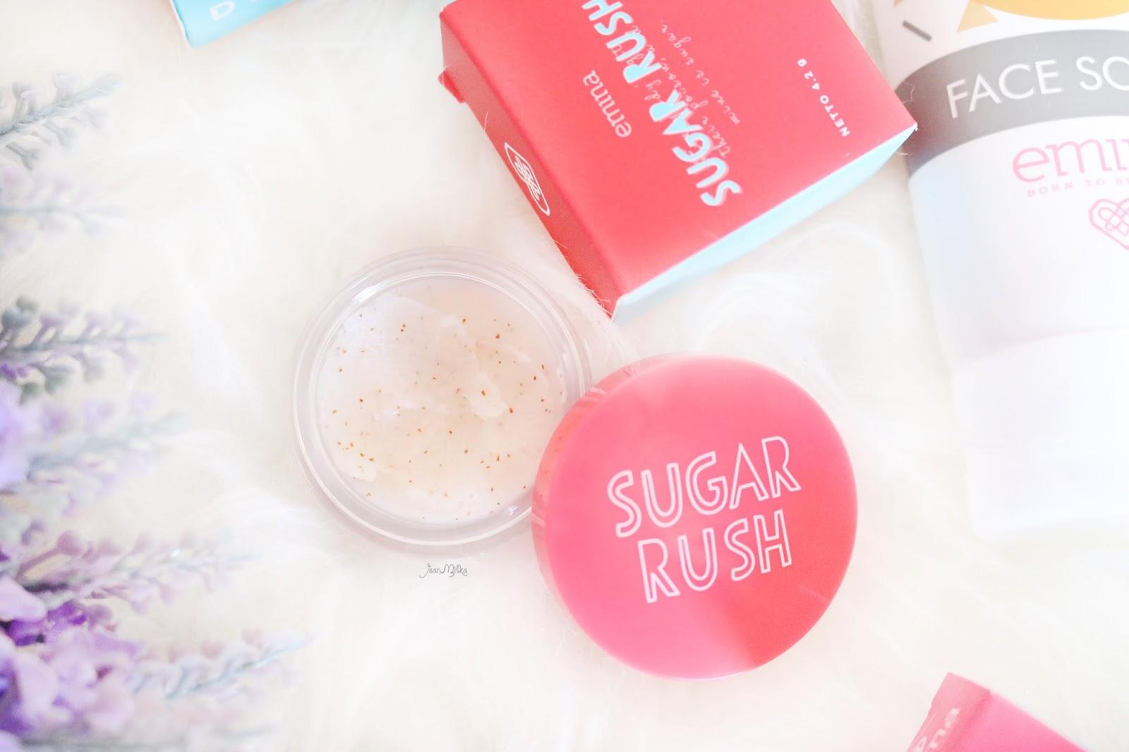emina, emina cosmetics, emina sugar rush, sugar rush, sugar rush scrub, sugar rush lip scrub, sugar rush lipstick, kosmetik murah, kosmetik indonesia, emina collection