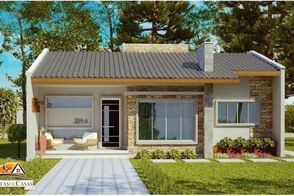26 inspira es de fachadas de casas simples e pequenas for Fachadas para residencias
