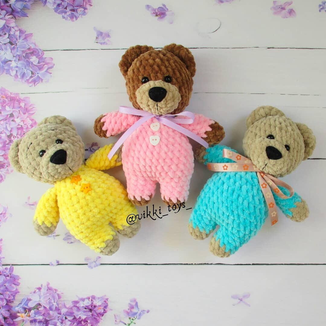 Buddy Backpack ~ Teddy Bear Tote Pajama Bag, Crochet Collector's ... | 1080x1080