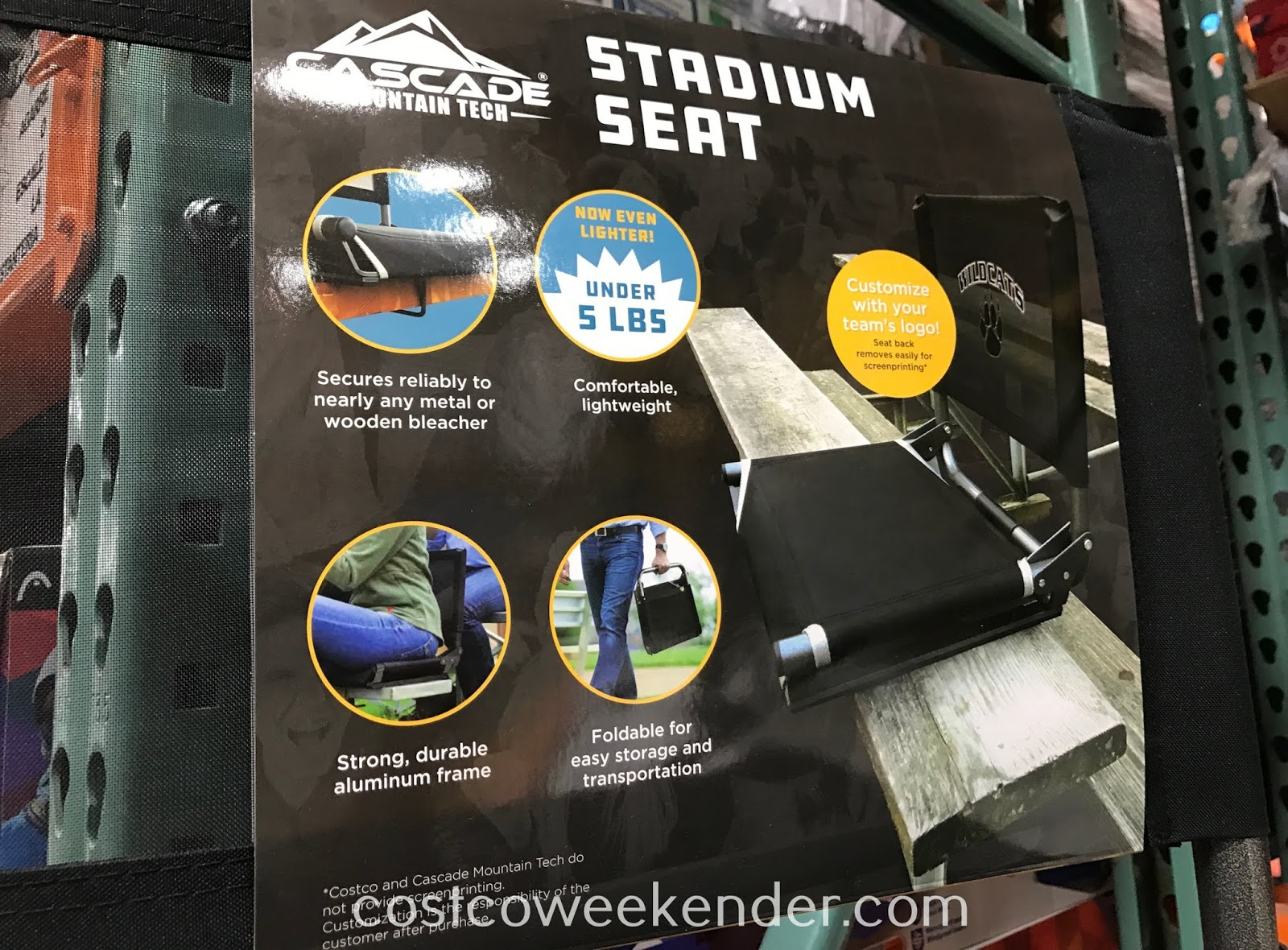 Cascade Mountain Tech Stadium Seat: great for any sports fan