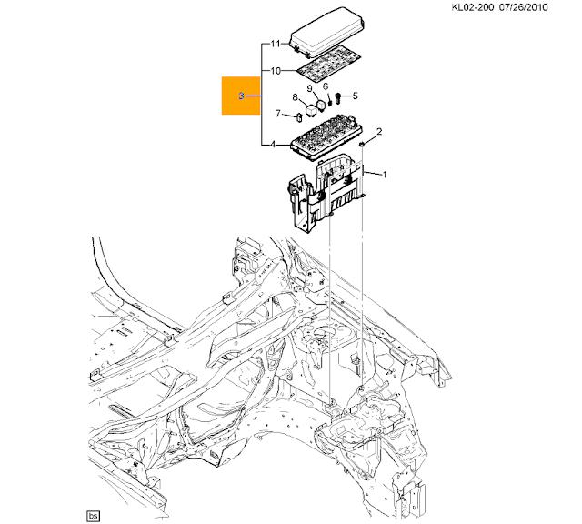 Hộp cầu chì khoang động cơ xe Captiva máy xăng chính hãng GM