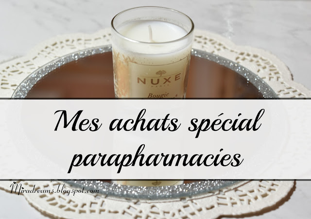 Mes achats spécial parapharmacies