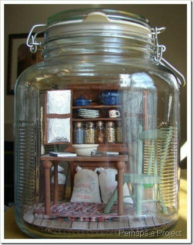 Miniature Room in A Jar. Foto: PerhapsAProject.blogspot.com
