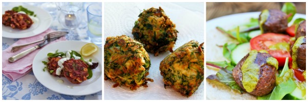 fritters and falafel