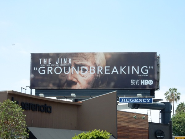 The Jinx Groundbreaking Emmy 2015 billboard