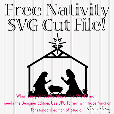 Free Nativity SVG cut file