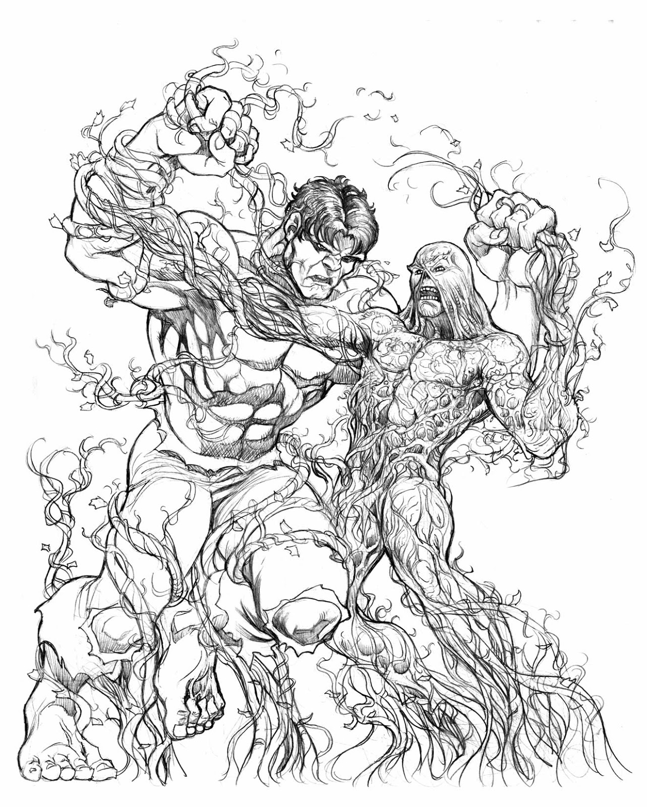 Lee Oaks: The Covers: The Hulk vs. Swampthing