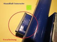 Standfuß Unterseite: as - Schwabe Chip-LED-Akku-Strahler 10 W, geeignet für Außenbereich, Gewerbe, blau, 46971