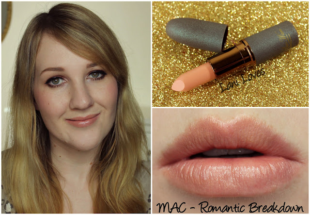 MAC Romantic Breakdown lipstick swatch
