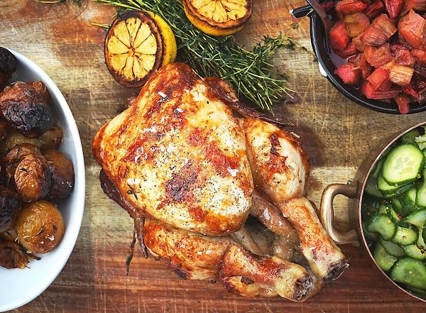 Danish roast chicken