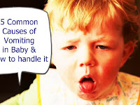 5 Common Causes of Vomiting in Baby and How to handle it