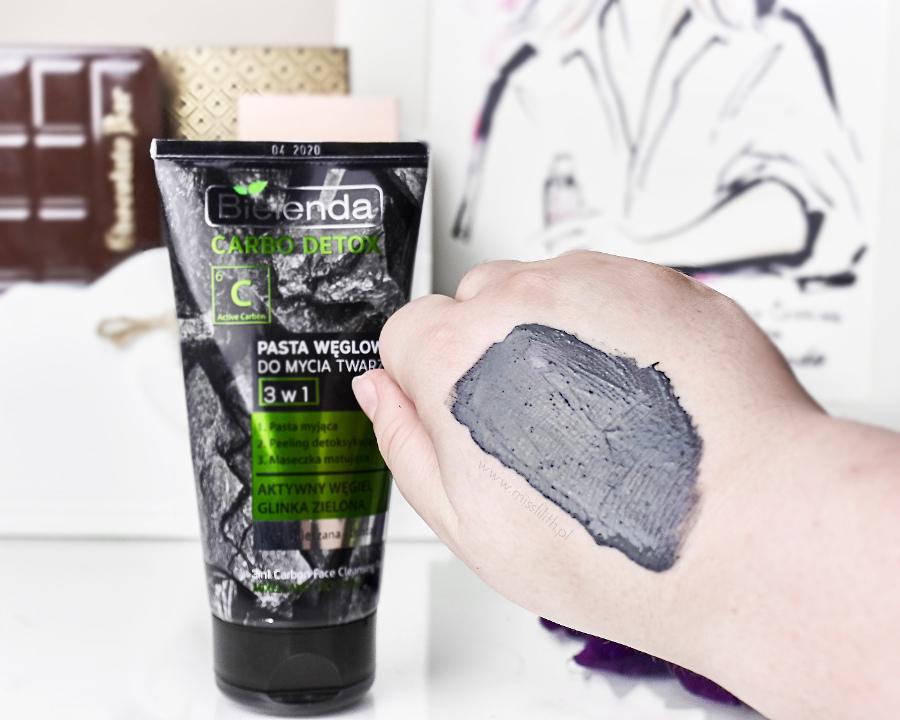 Bielenda Carbo Detox - Oczyszczający żel węglowy, pasta węglowa do mycia twarzy 3w1, nawilżająco - matujący krem węglowy do twarzy blog opinie