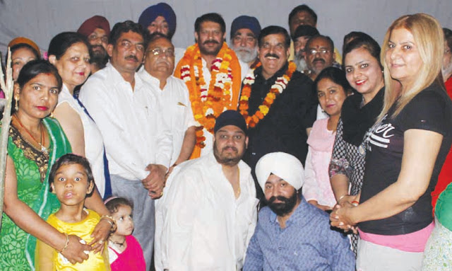 Satnam Singh Mangal, the newly appointed President of Indian Panchangar Army, receives a grand reception