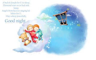Good Night Sweet Dreams quotes with sleeping babies Wallpapers
