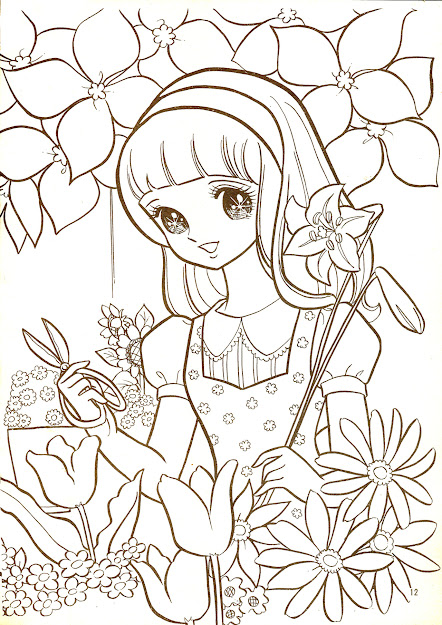 Vintage Coloring Pages  Manga Coloring Pages