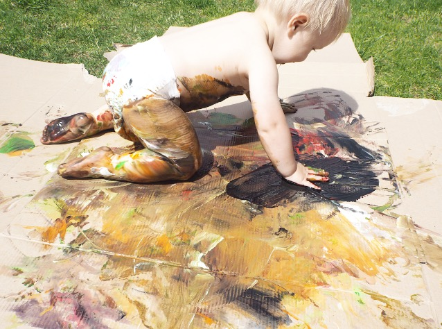Toddler messy play ideas