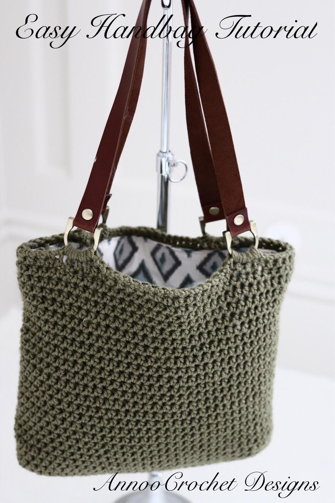 Annoos Crochet World Stylish Easy To Make Handbag Tutorial