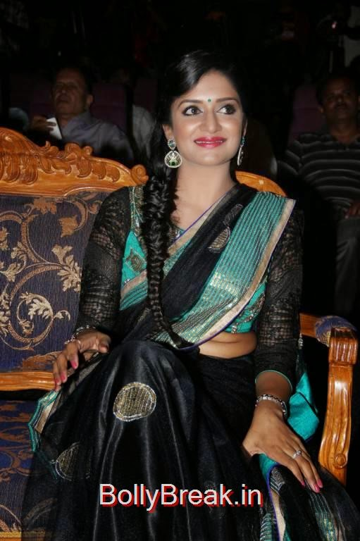 Vimala Raman Photos At Young India Awards, Vimala Raman Hot HD Pics in Black Saree from Young India Awards