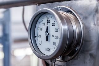 metal boiler gage