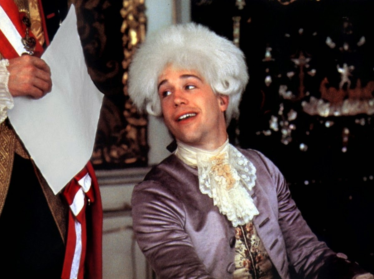 Amadeus (1984), starring F. Murray Abraham, Tom Hulce, Elizabeth Berridge, Directed by Milos Forman
