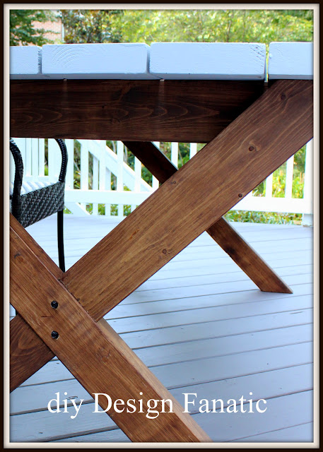 diy picnic table , farmhouse, cottage, deck, build a picnic table, diy design fanatic.com