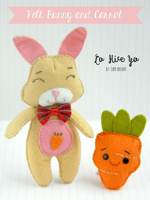 felt bunny and carrot