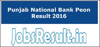Punjab National Bank Peon Result 2016
