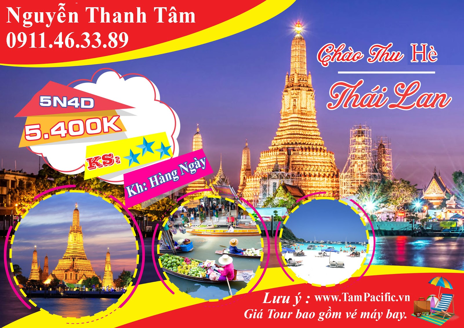 Du lịch Thái Lan mùa hè phương án thích hợp cho gia đình nhỏ
