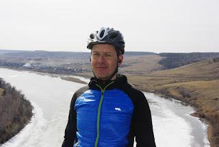 Павел Копылов на реке Белая