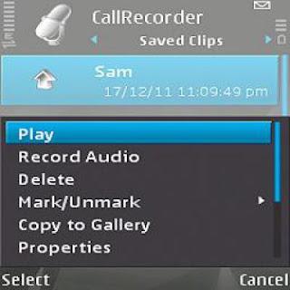 برنامج تسجيل المكالمات لهاتف نوكيا 500