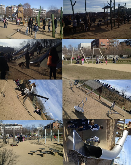 parques, niños, nenes, ocio infantil, nenes, juego, tobogan, columpio