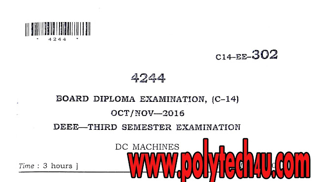 SBTET AP C14 DEEE 302-DC MACHINES QUESTION PAPERS