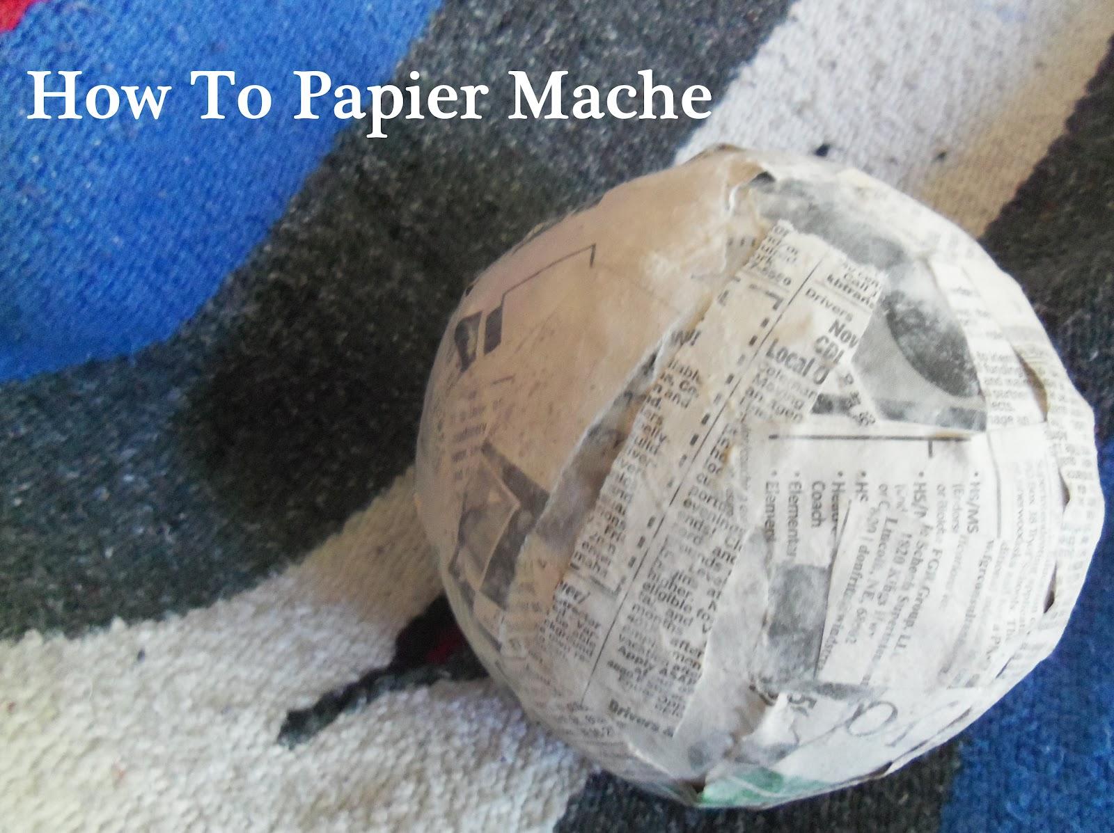 How to make papier-mache 11