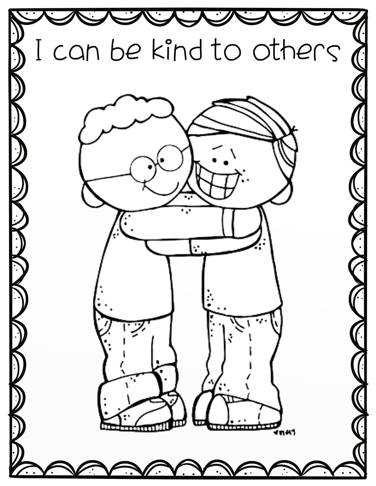 The Cozy Red Cottage: I can be Kind (Lesson helps for