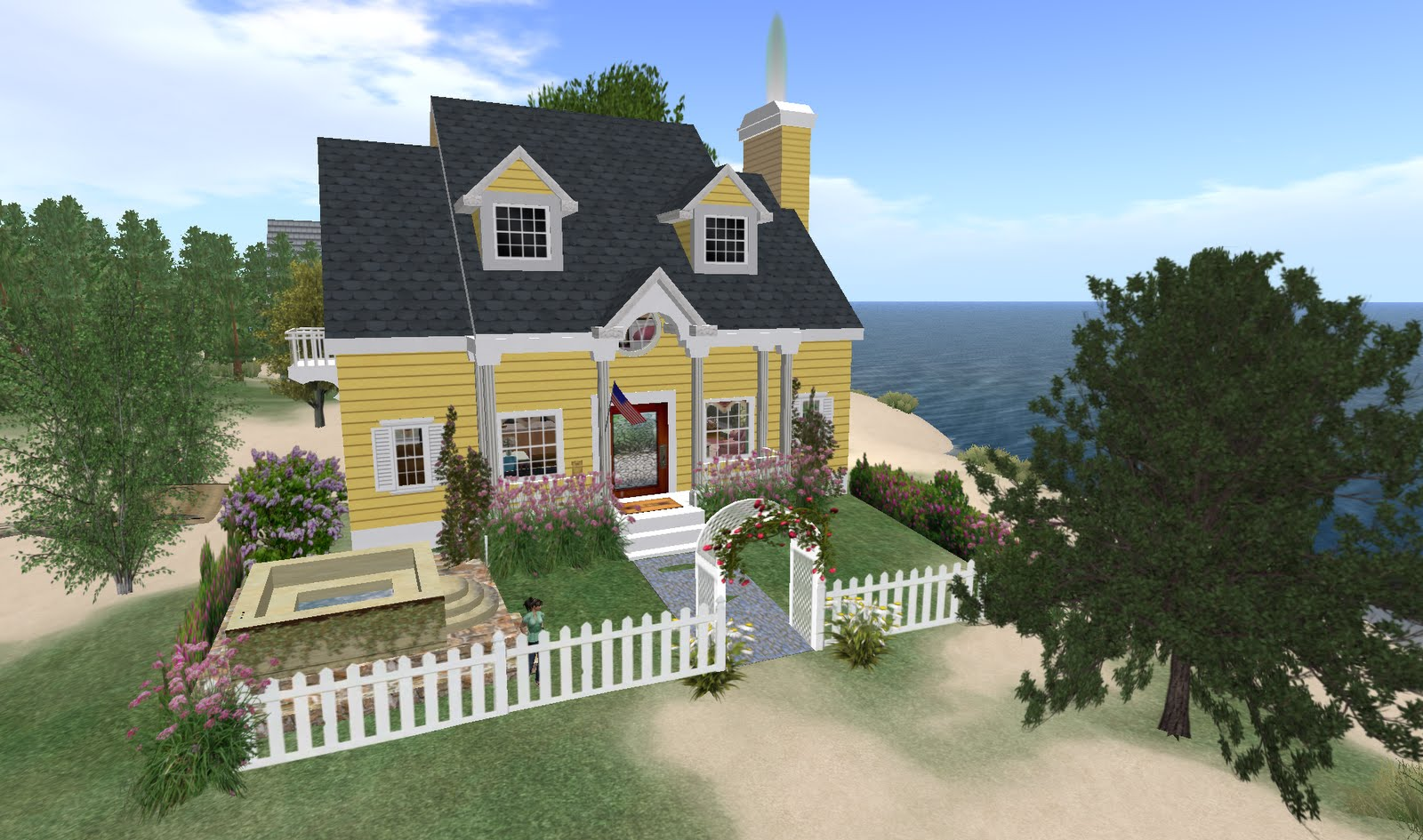 Jeanne S Folly Yellow Houses With White Picket Fences