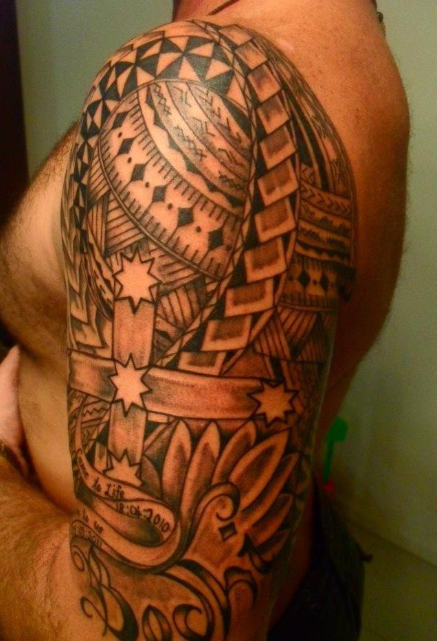 Tatouage Bras Homme Polynesien  Mode Simple Ou Horrible-9085