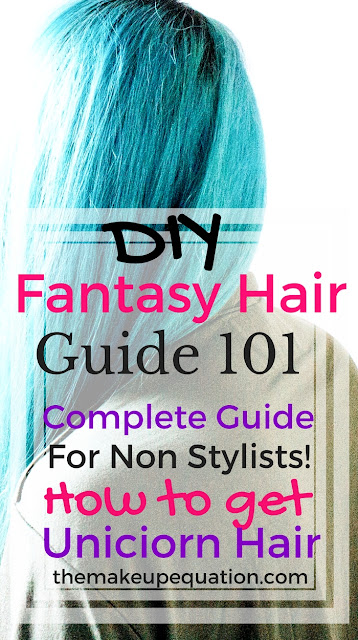 diy fantasy hair color. How to apply fantasy hair color at home. Unicorn hair. Mermaid hair. Fantasy hair. #fantasyhair #mermaidhair #unicornhair #newhair #greenahir #tealhair #purplehair #pinkhair