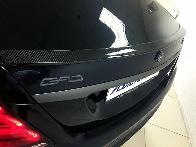 w222 carbon spoiler