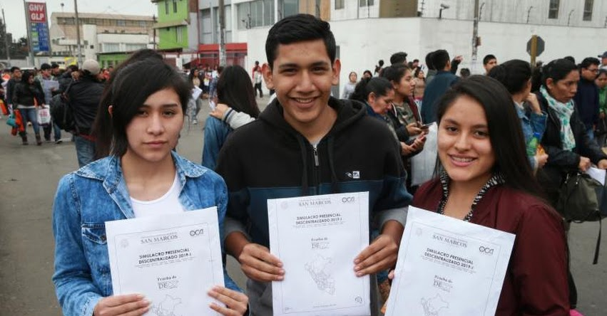 UNMSM: Conoce cuánto respondieron los postulantes al Simulacro de Examen de Admisión a la Universidad San Marcos - www.unmsm.edu.pe