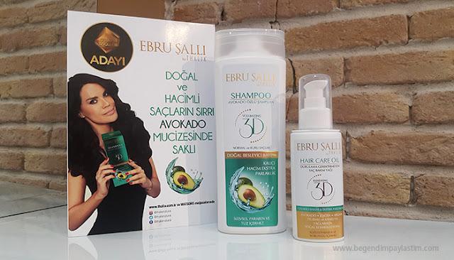 Ebru Şallı Thalia Avakado özlü 3D Volumazing Şampuan