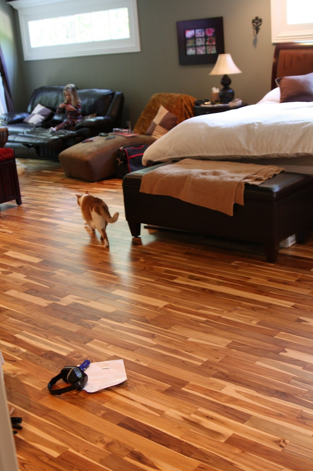 master bedroom hardwood flooring is nearly finished