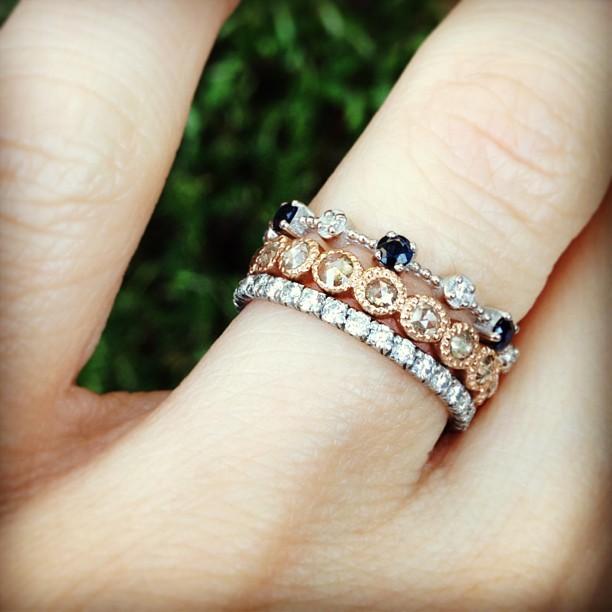 diamond rings infinity bands