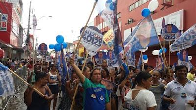 Caminhada do vereador Anderson Baqueiro reúne lideranças e apoiadores do candidato a Deputado Estadual Alex Lima no 7 de Setembro em Alagoinhas