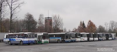Autobusy na dworcu PKSiS Oświęcim SA
