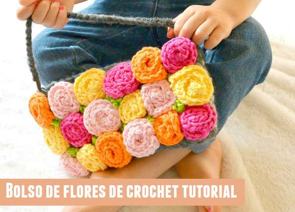 Bolso de flores de crochet tutorial